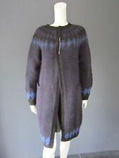 DANIELA GREGIS 100 % wool knitted coat New With Tag large safety pin to close