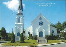 Postcard CT New Hartford Immaculate Conception Church Litchfield County MINT