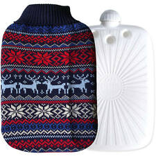 Hugo Frosch German Eco Hot Water Bottle With Knitted Cover Odourless 2 Litre Bag