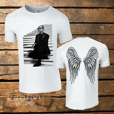 George Michael Angel Wing T-SHIRT (tutte le taglie disponibili) UK, musica, religione, greco