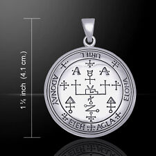 Sigil of the Archangel Uriel .925 Sterling Silver Pendant by Peter Stone