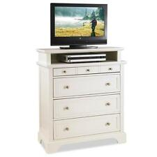 Home Styles White Naples Media Chest Bedroom Drawer Bed Room Wood Furniture