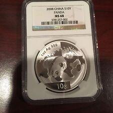 2008 China S10Y Panda MS 68