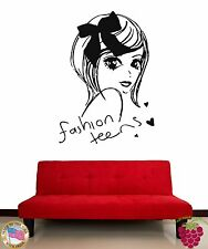 Wall Stickers Vinyl Decal Fashion Teens Cute Girl Decor For Bedroom (z1894)