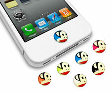 6 Lot de 3D Singe Gelée Gel Bouton Homer Autocollant pour iPhone iPod Touch iPad