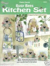 """Busy Bee Kitchen Set"" ~ Plastic Canvas Book ~  soft cover"
