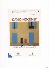 "DAVID HOCKNEY POSTER PRINT""SPANISH DOORS"" EXPOSITION BARCELONA SPAIN 1993"