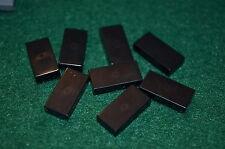 (8) BLACK 1x2 Smooth Finishing Tile Brick Bricks  ~ Lego  ~ NEW