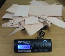 1 KILO OF NATURAL VEG TAN LEATHER  PRODUCTION OFF CUTS  3 - 4 mm THICK - CRAFT