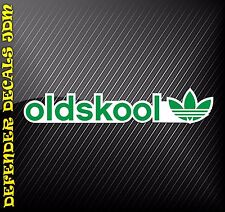 OLDSKOOL ADIDAS PRINTED VINYL CAR DECAL STICKER JDM LAPTOP IPAD FUN VW 200x40mm