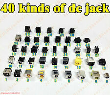 40 Kinds Lot Universal DC Power Jack Socket For HP Acer Asus Samsung Dell Laptop