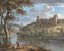 Scottish Painting Bothwell Castle Real Canvas Art Print