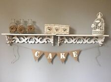 Rustic Vintage Wedding Hessian Burlap Bunting Cake Sweets Table Suitcase Size
