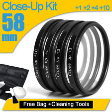 58MM MACRO CLOSE UP +1 +2 +4 +10 Lens Kit For canon 550d 400d 1000D 550D 60D UK