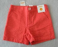 NEW Gymboree Preppy Peach Seersucker Coral Orange Shorts 10 Girls Retail $25 M