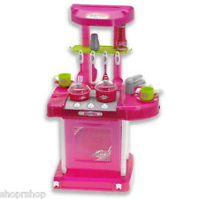 "26"" Portable Kitchen Appliance Oven Cooking Play Set Lights & Sound Pink TF858"