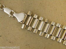 Men's Rhodium Plated 24 inch Long Presidential Link Necklace Chain New 17mm Wide