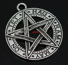 15pcs Tibet Silver Gothic wicca pentagram jewelry Charm Amulet pendant 28x25mm