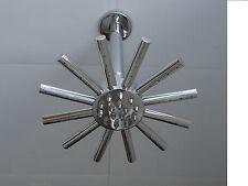 "STAR CLOUDBURST SHOWER HEAD (7"") & CEILING MOUNTED ARM, ALL METAL & CHROME, 004C"