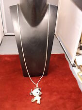 "#1 of 22, NOS NEVER WORN ""BETSEY JOHNSON"" NECKLACE WITH ""GEM FILLED COW/BULL"""