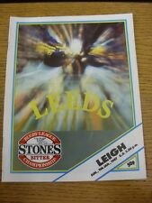 11/01/1987 Rugby League Programme: Leeds v Leigh  . Thanks for viewing this item