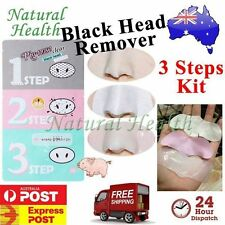 Holika 3 in 1 Pig Nose Pore Clear Black head Remover 3-STEP KIT Strip Mask Peel