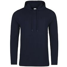 Mens Long Sleeve Hooded T-Shirt Hoodie Hoody Top Slim Fit Free PnP