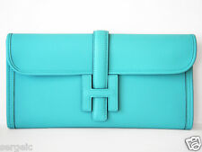 FUN! New HERMES Classic H Blue Atoll Lagoon 29 Elan Jige Swift Clutch Bag