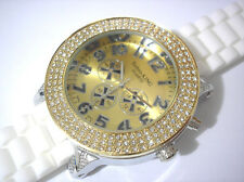 Techno King Bling Bling Rubber Band 7 Color Light Men's Watch Silver Gold #3316