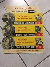 1950's die cut Cardboard sign Kodak