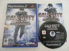 CALL OF DUTY WORLD AT WAR FINAL FRONTS - SONY PLAYSTATION 2 - JEU PS2 COMPLET