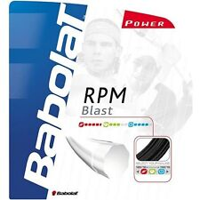 BABOLAT RPM BLAST Tennis Stringa - 1,30 mm / 16G - 12m-Nero-gratis UK P & P