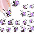 New Nail Art Sticker Water Transfer Stickers Flower Decals Tips Decoration .