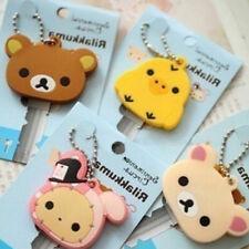 Cute Animals Style Soft Key Top Head Cover Chain Cap Keyring Phone Strap Minion