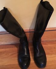 LL Bean lined riding boots. black, made in Canada. 9.5M