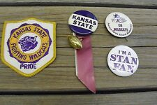 Vintage Kansas State University Sports Pins & Patch - 1960s - Air Parrish!