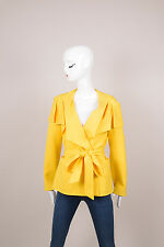Escada NWT $2990 Yellow Wool Belted Jacket SZ 34