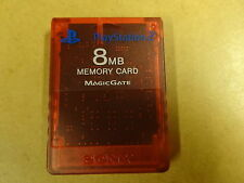 SONY PLAYSTATION 2 PS2 8 MB MEMORY CARD RED