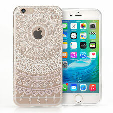 Yousave Accessories Mandala Pattern TPU Gel Phone Case Cover for iPhone 6S / 6