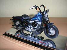 Maisto Harley-Davidson 2008 FLSTSB Cross Bones dunkelblau dark blue, 1:18