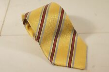 Ede & Ravencroft England Yellow w/ Brown & Blue Luxury Necktie