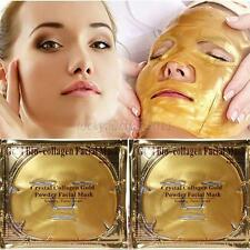 Gold Bio-Collagen Facial Face Mask, Anti-Aging, Hydrating, Repair Skin new L13