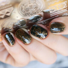 Nail Art Stamping Plate Rectangle Image Template Manicure Tribal Design NJX-007