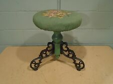 Vintage Piano Stool Antique Piano Stool Vintage Plant/Night Stand End Table 1900