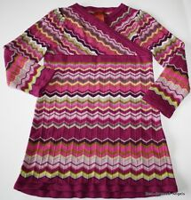 NWOT MISSONI for Target GIRL SWEATER DRESS SZ 2T-3T ZIG ZAG SPARKLY NEW