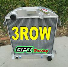 3 ROW Ford 1932 hot rod w/Chevy 350 V8 engine aluminum radiator