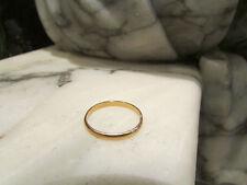 ancienne bague alliance en or massif 18 carats non gravée