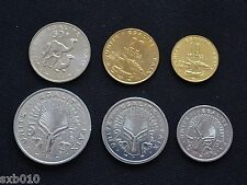 Djibouti coin sets. 1 set of six coins.  UNC
