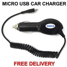 NOKIA Micro USB In Car Portable Phone Charger 1 Meter Cable Lighter Socket UK