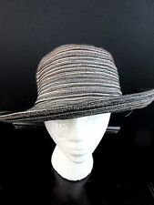 SAN DIEGO HAT COMPANY Mixed Braid Kettle Brim Sun Hat Black Brown Tan Women's